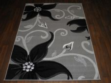 Modern Approx 6x4ft 120x170cm Woven Backed Silver/Black Sale Quality Lily Rugs